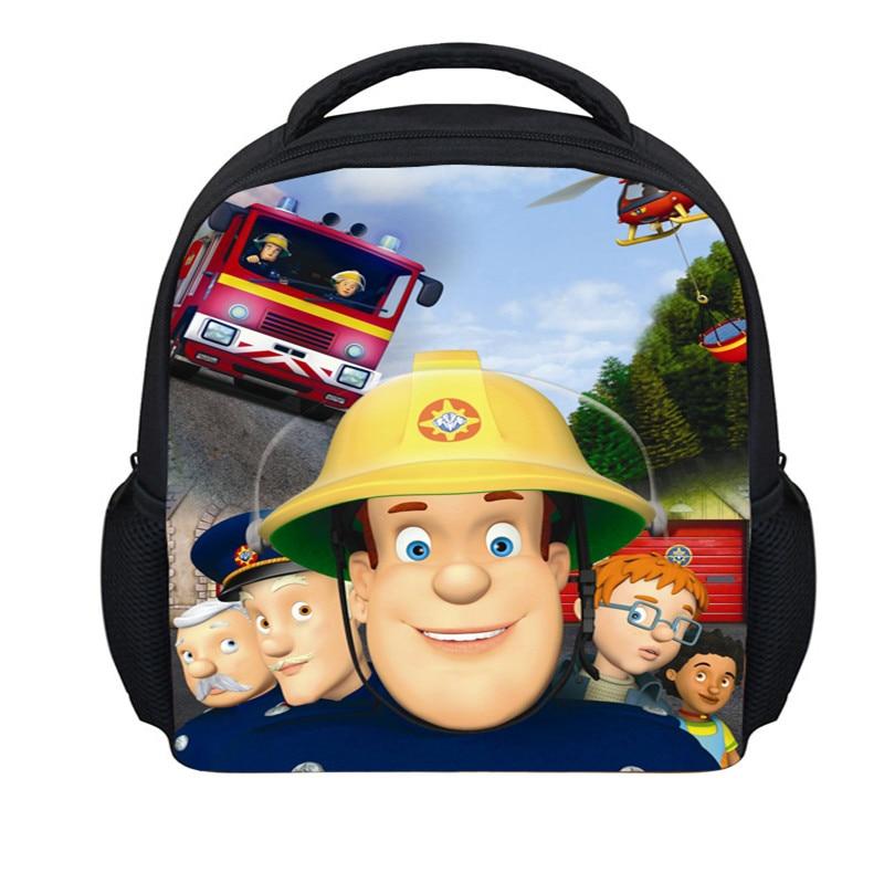 FORUDESIGNS 12 inch Small Children School Bags Fireman Sam  Book Bags For Boys Fashion Cartoon Kindergarten Dragon ball<br><br>Aliexpress
