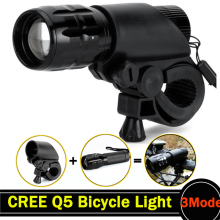 Q5 LED Bicycle Light Set 2000 Lumens LED Bike Lights Bicycle LED Light Cycling Front Head Light with Handlebar Dropshipping ZK67(China)