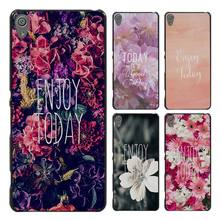 Enjoy Today Red Roses Style Case Cover for Sony Ericsson Xperia X XZ XA XA1 M4 Aqua E4 E5 C4 C5 Z1 Z2 Z3 Z4 Z5(China)