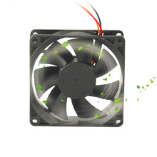 Professional 80MM Small 3pin Interface PC Computer Fan Silent DC 12V Chassis Fan CPU Cooling Fan Cooler Black Dropshipping(China)
