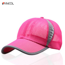 Vancol 2017 Breathable women hit color red hat outdoor hiking multi-color cool cap men net unisex casual snapback baseball cap