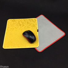 1PCS 22*2cm Chinese Style Handmade Vintage Silk Brocade Rubber Yellow  Mouse Pads Mat