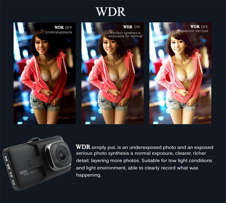 17 Registrar Car Camera DVR 1080P HD 1 Degree Dvr Black Box Car Mirror Camera Dual Camera Lens With Rear View Camera Dashcam 7
