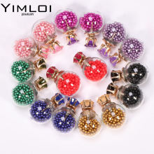 New Fashion Jewelry Double Side 16MM Crown Pearl Stud Gift for Women Girl Free Shipping Mix Color E212