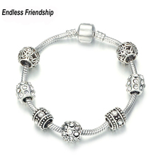 AAA Zircon Charm Bracelet for Women Fit Brand Bracelet & Bangles Jewelry DIY Making Accessories(China)