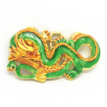 The cowboys of the west China golden dragon personality oil zinc alloy belt buckle for 4.0(China)