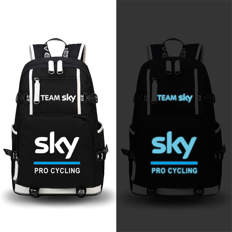 High Quality Team Sky Pro Cycle Luminous Printing Backpack Military Backpack Large Capacity Travel Bags Canvas School Bags <br>