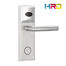 Hotel Key Card Lock System Cheapest Model Stainless Steel Panel T57 T5577 Type Electronic Intelligent RF Promixity RFID Lock