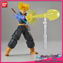 PrettyAngel - Genuine Bandai Figure-rise Standard Assembly Dragon Ball Z Super Saiyan Trunks Plastic Model Action Figure(China)