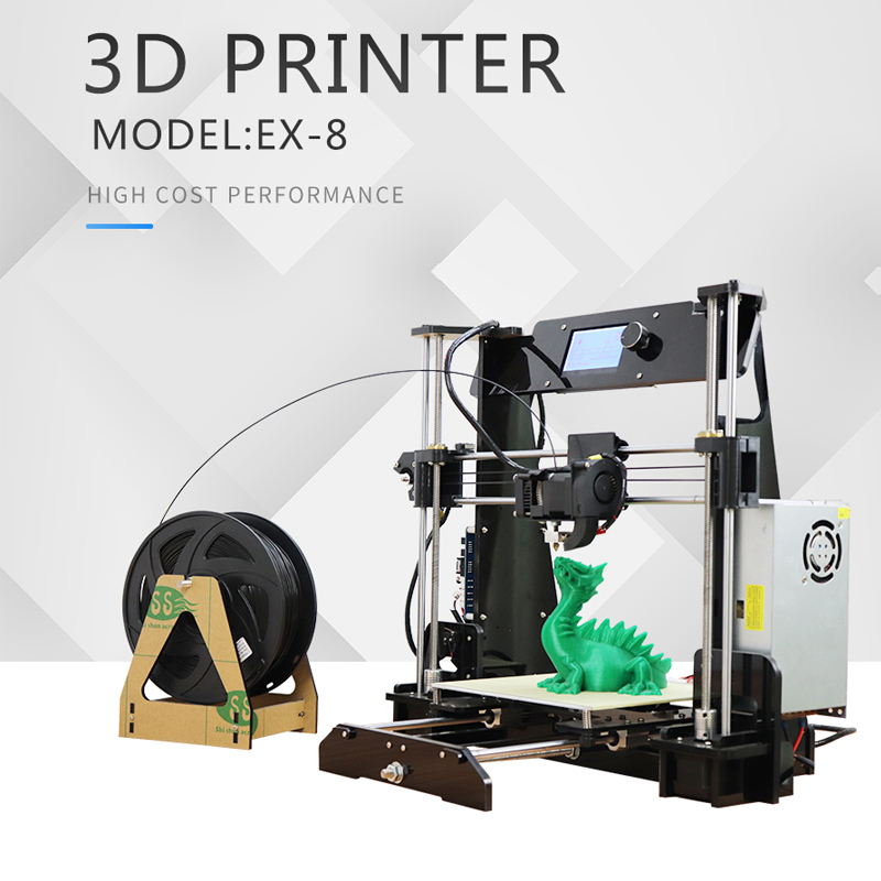 Factory EZT3D EX8 DIY 3D Printer Kit with filament High Precision Reprap Prusa i3 Large Printing Size