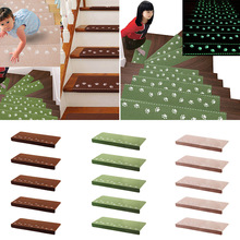 NC 13Pcs Home Luminous Self-adhesive Non-slip Floor Staircase Carpets Bear Claw Pattern Glow In Dark Stair Treads Protector Mats(China)