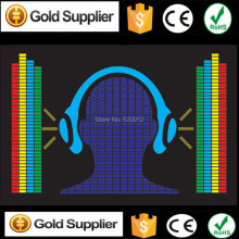 Headphone Equalizer el panel EL sound activated panel EL music equalizer panel led label without inverter(China)