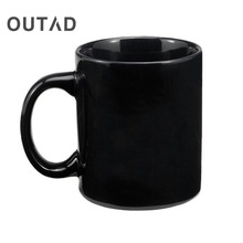OUTAD 350ml Creative Design Mugs Color Change Ceramic Coffee Mug and Cup Fashion Gift Heat Reveal Magic Zombie Mugs for Friend(China)