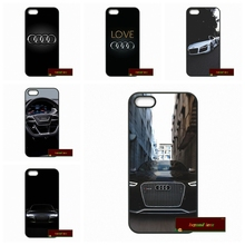 Case Cover For iPhone 4 4S 5 5S 5C SE 6 6S 7 Plus 4.7 5.5 Audi Car Logo Hard Phone Case #HE1375(China)