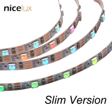 Mini Pixel flexible 3 Pin LED Strip DC5V 60LEDs/M 5mm Slim Version Non-waterproof SK6812 Dream Color Chasing Digital Light(China)