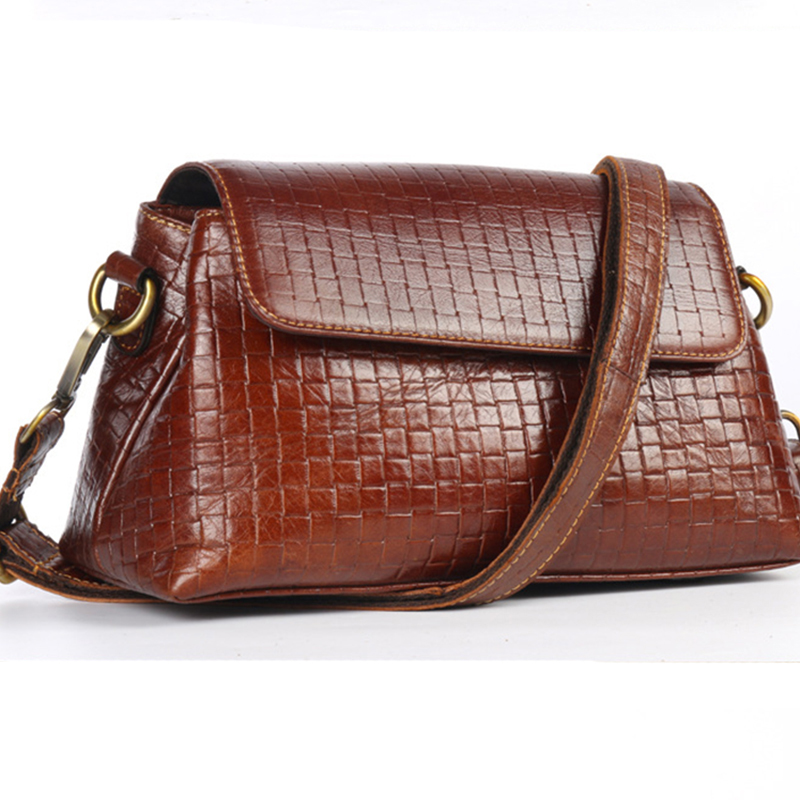 High Quality Genuine Leather Women Messenger Bags Ladies Fashion Cross Body Pack Travel First Layer Cowhide Single Shoulder Bag <br>