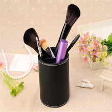 2016 Fashion NEW Cylinder Brand Pen Style Brushes Bucket Makeup Barrel Make Up Tools  Storage Box Pen case