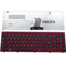 US red New English Replace laptop keyboard For Lenovo G580 Z580A G585 Z585 B580 G770 G590(China)