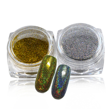 1g/Box Fashion Rainbow Gold/Silver Holo Laser Nail Art Powder Dust Mermaid Effect Gradual Glitter Pigment Nail Sequin TRM09-10