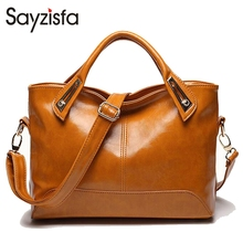 Buy Sayzisfa 2017 Women Luxury Handbags Vintage Woman's Tote Ladies Shoulder Bag Messenger Bag Motorcycle bag sac T355 for $17.91 in AliExpress store