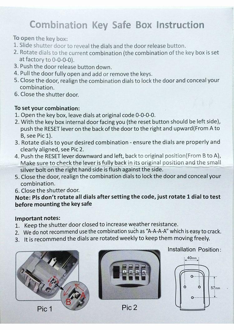 Key Safe Box Outdoor Digit Wall Mount Combination Password Lock Aluminum Alloy Material Keys Storage Box Security Safes OS5402 (11)