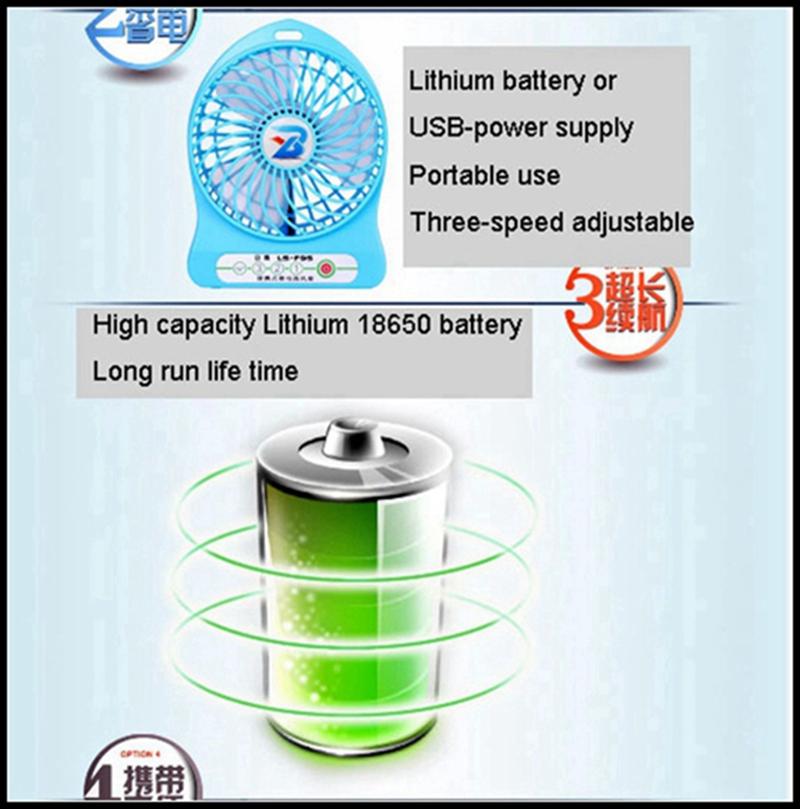 LISHUO USB rechargeble Mini Fan 9