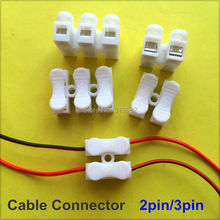 20 pcs 2pin 3pin Spring Cable Clip self lock press push quick 2P 3P Wire clip connector Wiring Terminal for car led strip lamp(China)