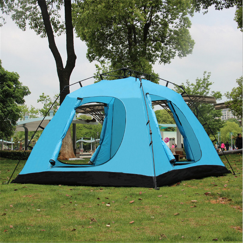 Camel-Outdoor-Tent-3-4-People-Double-Anti-rain-Waterproof-Camping-tent-with-Skirt-4-doors (3)