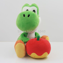 New 2017 Cartoon Plush Stuffed Toy Green yoshi Stuffed Soft Animal Toys Doll 6in For Kids Gift