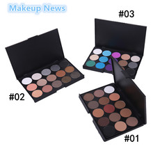 1pcs Natural15 Colors Eye shadow  cosmetic Long Lasting Makeup Eyeshadow Palette Cosmetic set brush For Women15 Earth Color