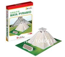 Maya Pyramid CubicFun 3D educational puzzle Paper & EPS Model Papercraft Home Adornment for christmas gift(China)