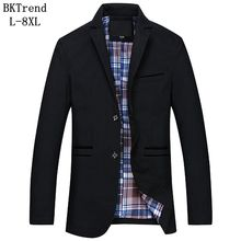BKTrend 7XL 8XL Men Blazers New Arrivals 2017 Men's Casual Fashion Suit Blaser Masculino Male Jacket Men Blazer Designs