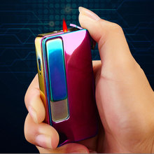 Romantic Design Electronic Rechargeable And Refillable Gas Windproof Cigarette Usb Lighter