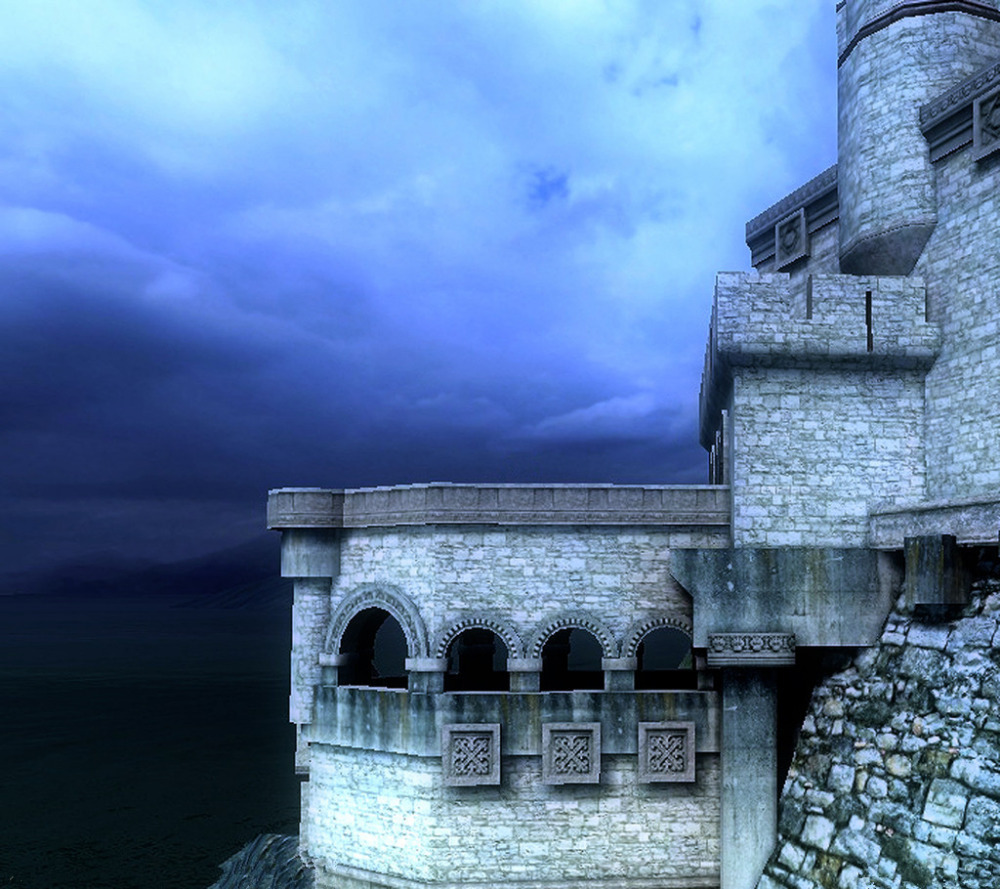 SHENGYONGBAO 300cm*300cm Vinyl Custom Castle Photography Backdrops Prop Photography Background LCB23<br>