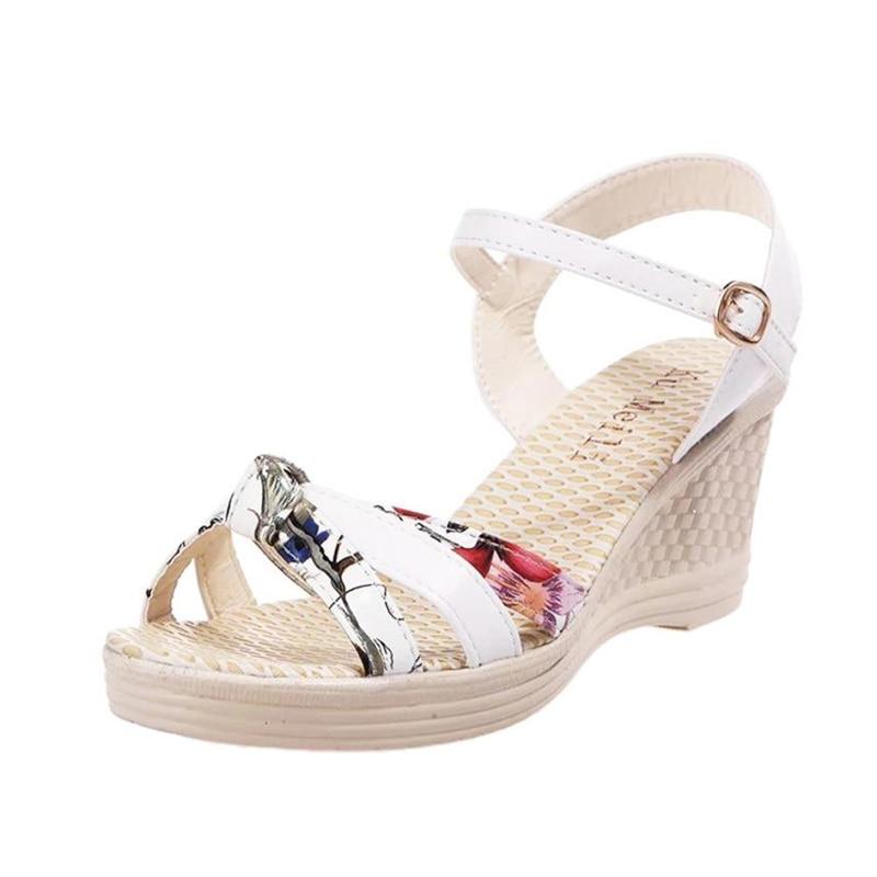 Ladies Women Wedges Shoes Summer Sandals Platform Toe High-Heeled Shoes O0530#3014