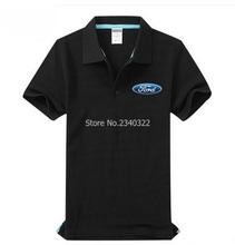 Ford auto 4S shop polo shirt short-sleeved overalls work clothes men clothing(China)