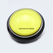 New Reyann 100mm LED Illuminated Arcade LED Push Button For MAME Game & JAMMA Project & Pop'n Music Games Free Shipping - Yellow(China)
