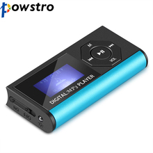 Powstro NEW LCD Display 16G Digital Music MP3 Player with USB Rechargeable Cable with Screen Protector Dropshipping Support(China)