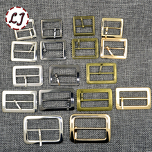 New 10pcs/lot 20mm/25mm/30mm/35mm/40mm silver bronze gold Square metal shoes bag Belt Buckles decoration DIY Accessory Sewing(China)