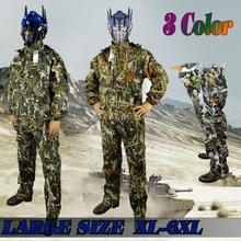 New camouflage ghillie suit camouflage hunting suit birdwatch airsoft paintball fishing training uniform camping Large Size 6xl