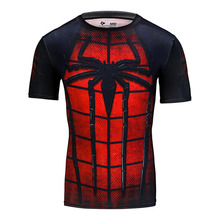 2017 Men's famous brand quick dry t shirt fitness men compression slim fit under wear 3D Printed T-shirt(China)