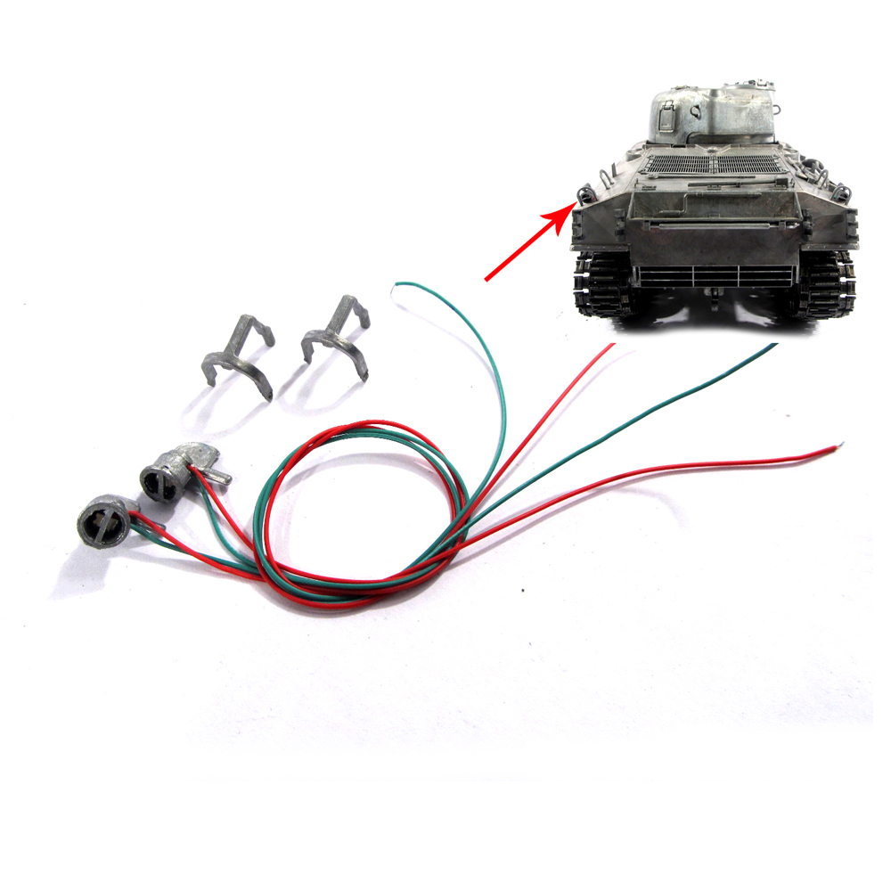 Mato 1/16 Sherman metal rear lights with guards for 1:16 Mato metal sherman M4A3(75)W rc tank<br><br>Aliexpress