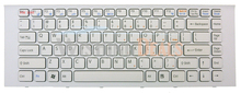 New for Sony VAIO VPC-EG VPCEG vpceg Series  Keyboard US layout White color with white frame