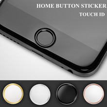 5x Ultra Slim Fingerprint Support Touch ID Metal Home Button Sticker For iPhone 7 7PLUS 6 6S 6PLUS 5 5S 5C SE Red & Black & Gold