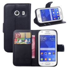 10 Pcs/Lot Wallet PU Leather Case Cover For Samsung Galaxy Ace Style S756C Flip Protective Phone Back Shell Visa Card Slot(China)