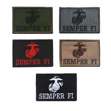 Embroidered US Marine Corps EGA Semper Fi patch USMC army morale tactical patch militare insignias patches hook for bag(China)