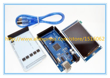 ! 3.2 inch TFT LCD Touch + Shield Mega 2560 R3 usb cable Arduino kit - IC-atmega Franchise stores store