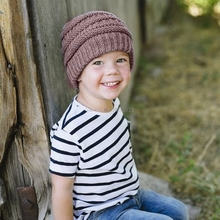 Baby Kids Girls Boys Warm Winter Wool Knitting Beanie Hat Crochet Ski Ball Cap -B116