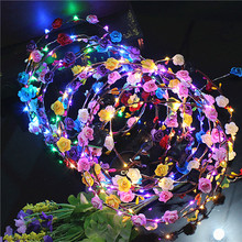Direct manufacturers Led luminescence band snuff ring head hair ring Lei scenic street vendor selling(China)