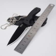 Necklace Knife Tactical Fixed Blade Knife 440A Stainless Steel 58HRC Outdoor Survival Knife Tool Small Straight Hunting Knives(China)